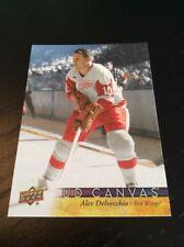 2017-18 Upper Deck Canvas Alex Delvecchio Red Wings RETIRED STAR! #C253