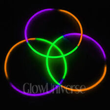 "600 24"" Glow Necklaces in Tri-Color Green, Purple, Orange"