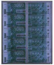 Lebanon 1000 Livres 5in1 Uncut (UNC) 黎巴嫩1000里弗 5连体钞 照片为反正面