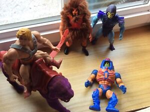 VINTAGE BUNDLE OF HE MAN MASTERS OF THE UNIVERSE ACTION FIGURES x 5 1980's