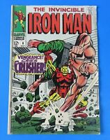 IRON MAN #6 ~ MARVEL SILVER AGE COMIC COVER 1968 ~ VG