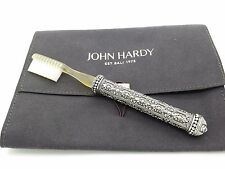 Rare John Hardy Sterling Silver Dot Collection Scroll Floral Toothbrush w/ Pouch