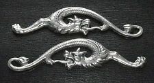 'SILVER' SERPENT / DRAGON SNAKE MENUKI: Decoration for Japanese Samurai Sword