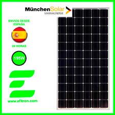 Placa solar panel  195 Wp 24V (72 células)  MUNCHEN Modulo fotovoltaico. EFITRÓN