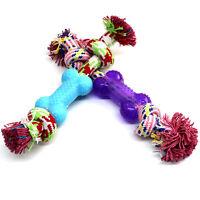 Hunde Welpen Kauen Tau Knoten Buntes Baumwolle Hundespielzeug mit Gummi