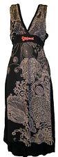 Desigual Dress Quita Black Sleeveless V Neck A Line Dress Size M