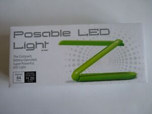 Posable LED Light by Delk Green Tabletop Portable Dimmer General Purpose Lamp