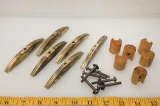 Set of 6 Butterscotch Bakelite Deco Cabinet Cupboard Dresser Drawer Pulls Vtg