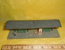 Vtg HO Model Train Waiting Platform Coke Machine Miniature Conductor