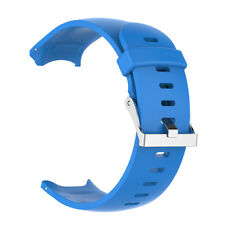 Silicone Wrist Band Strap & Silver Clasp for Garmin Approach S3 Sport Watch
