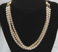 LADY REMINGTON FAUX PEARL TIERED CHOKER NECKLACE STILL IN BOX