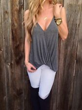 Fashion Sleeveless Loose Summer Women Tank Vest Casual Tops Blouse T-Shirt L