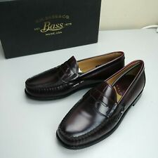 G.H Bass Men's Wagner Leather Loafers, Burgundy, Size 8 NEW