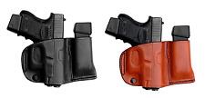 TAGUA OWB Belt Holster w/ Mag Carrier Brown Black Leather - Pick Gun & Color