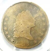 1795 O-127a Small Head Flowing Hair Half Dollar 50C R6+ (Rarity-6) - PCGS AG!