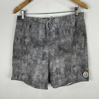 Rip Curl Mens Board Shorts Medium Grey Elastic Waist Drawstring Pockets