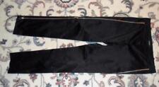 Auth Versace Black Skinny Ankle Pants women size Italian 38 US2 unique zipper