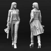 1/35(50mm) Agent Aida Female Gunner Resin Lady Soldier Unpai G4L1