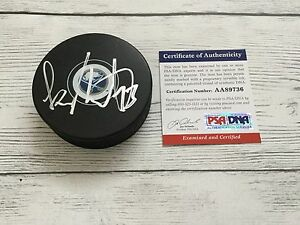 Sam Reinhart Signed Buffalo Sabres Hockey Puck PSA DNA COA Autographed b