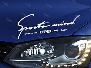 Opel Sports Mind Sticker for Bonnet Insignia Astra Vectra Mokka Zafira Corsa W