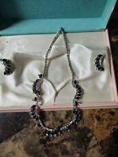 necklace set Vintage black,and crystal