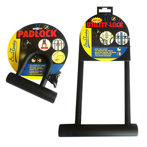 Bike U Lock D Anti Theft Metal Hardened Steel Padlock Road Heavy Duty Black