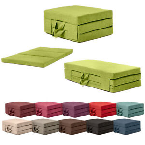 Fold Out Guest Mattress Fibre Bed Single & Double Sizes Futon Z bed Folding Sofa