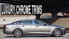 Jaguar XJ XJ-L Stainless Steel Chrome Pillar Posts by Luxury Trims 2010-2014 8pc