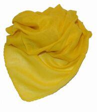 Asciugamano Sciarpa cotone cotone tinta unita Giallo ca 95 x 95 cm