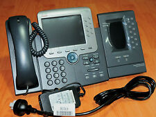 Cisco CP-7975G Unified VoIP Phone  w/ CP-SINGLFOOTSTAND CP-7916 CP-PWR-CUBE-3