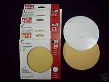 "6"" NH PSA Stick On Sanding Discs 150 Grit 45 Sheets Porter Cable"
