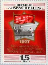 SEYCHELLES SEYCHELLEN 1977 393 404 60 Ann Russian October Revolution Aurora MNH