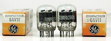 NOS Matched Pair General Electric 6AV11 Tubes - Hickok Tested