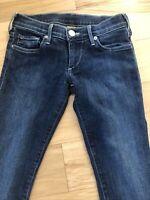 True Religion Women's Size 25 Low Rise Medium Wash Skinny Jeans EUC