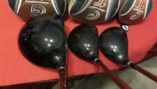 Ping G10 Wood Set 9* Driver  3-5 Woods TFC129 Stiff Graphite Men Left Handed