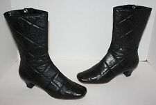 Womens Marc Jacobs Black Quilted Leather Boots Size 39 / US 9