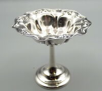 Antique Sterling Silver Wallace Footed Compote Bowl Nut Dish Pedestal 1181 Vtg