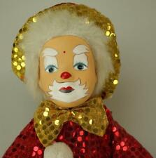 Porcelain & Rag Clown or Joker  in Sequined Red and Gold Outfit SA116