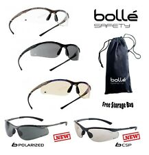 BOLLE CONTOUR Safety Glasses Clear Smoke ESP Lens Anti-Fog Anti-Scratch FREE Bag