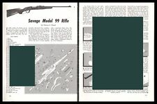 SAVAGE Model 99 Rifle Exploded View Parts List 2-pg Assembly Article
