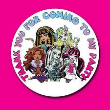 MONSTER HIGH BIRTHDAY PARTY SWEETCONE GIFT GOODY BAG SEAL STICKERS LABELS