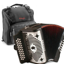 Hohner Panther FBE Fa Diatonic 31 Button Accordion + Straps & Stagg Padded Bag
