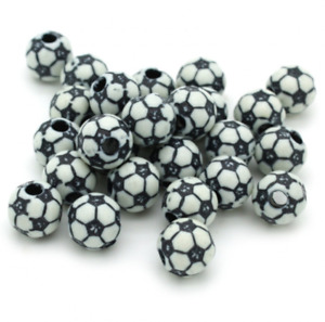 100 FOOTBALL PONY BEADS - LIMITED OF STOCK, ONCE ITS GONE, ITS GONE