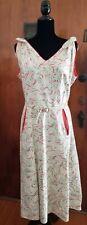 Vintage 1950s Embellished Sundress W42 Breezy Cotton