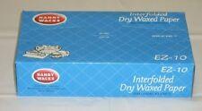 Handy Wacks EZ12C, 12x10-3/4-Inch Interfolded Medium Grade Dry Waxed Paper, 12x5