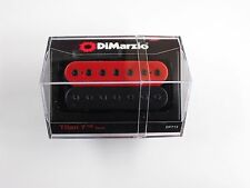DiMarzio Titan 7 String Neck Humbucker Black/Red W/Black Poles DP 713