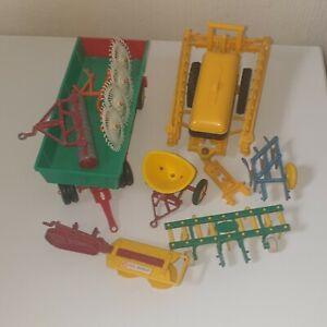 BRITAINS Geräte Konvolut Traktor, tractor, tracteur,trattore 1:32 p.Siku,Hausser