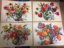 "FLORAL Art Prints flower bouquet Tulip Poppies 4 Prints Holland, Roelofs 6"" x 8"""