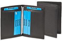Rimbaldi® Kreditkartenetui & Ausweishülle in einem - aus feinem Leder in Schwarz