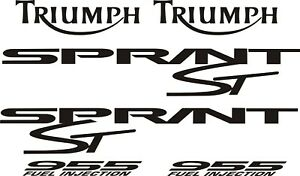 Triumph Sprint ST 955 decal set black vinyl stickers